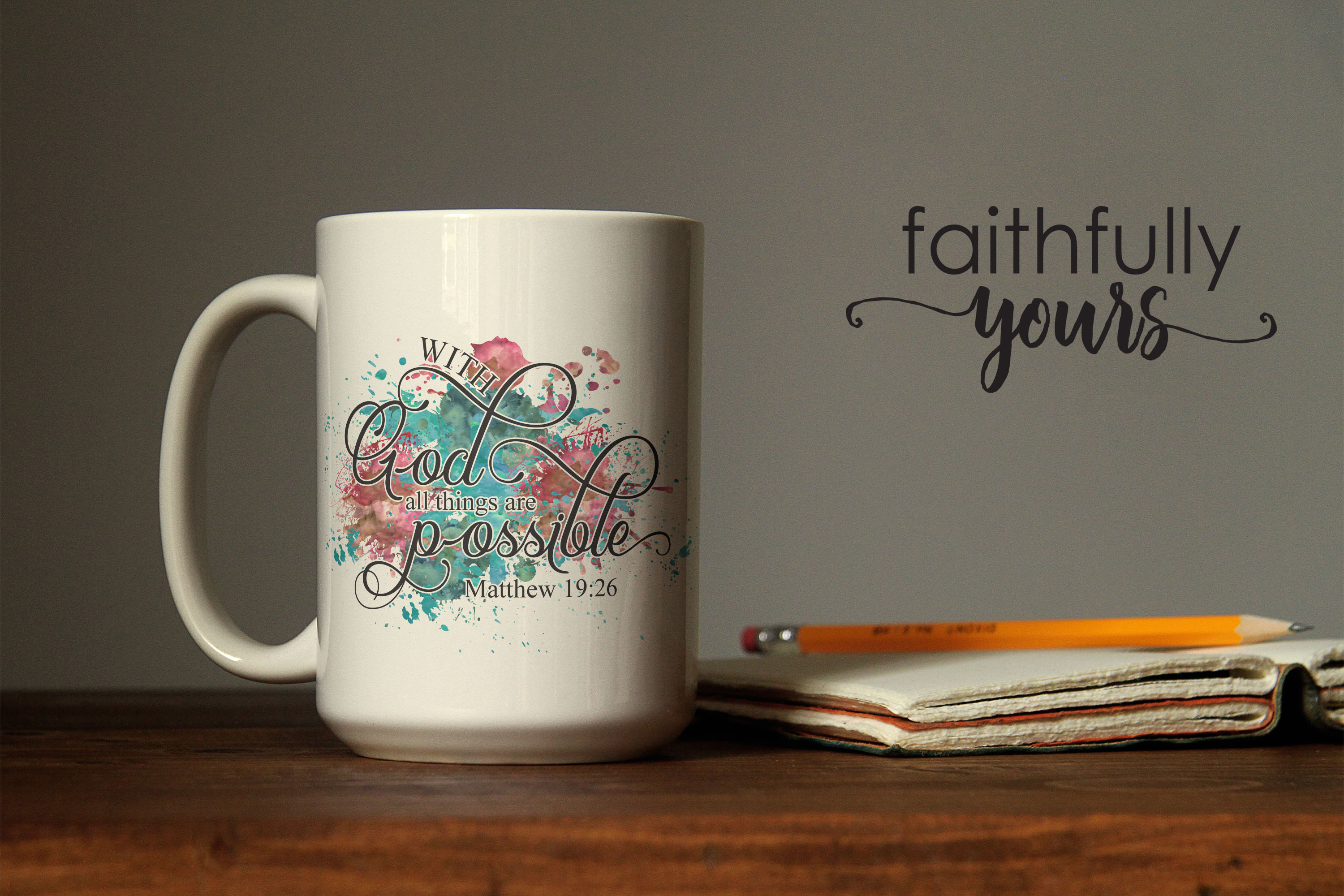 With God, all things are possible! Sublimation Design PNG example image 3