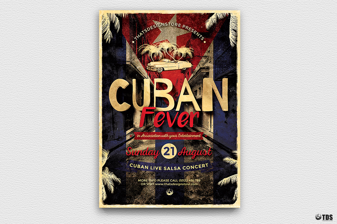 Cuban Fever Flyer Template example image 2