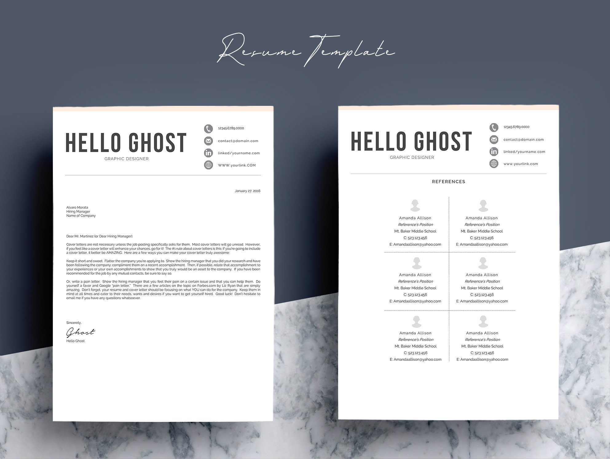 Modern Resume Template 4 Pages Design example image 7