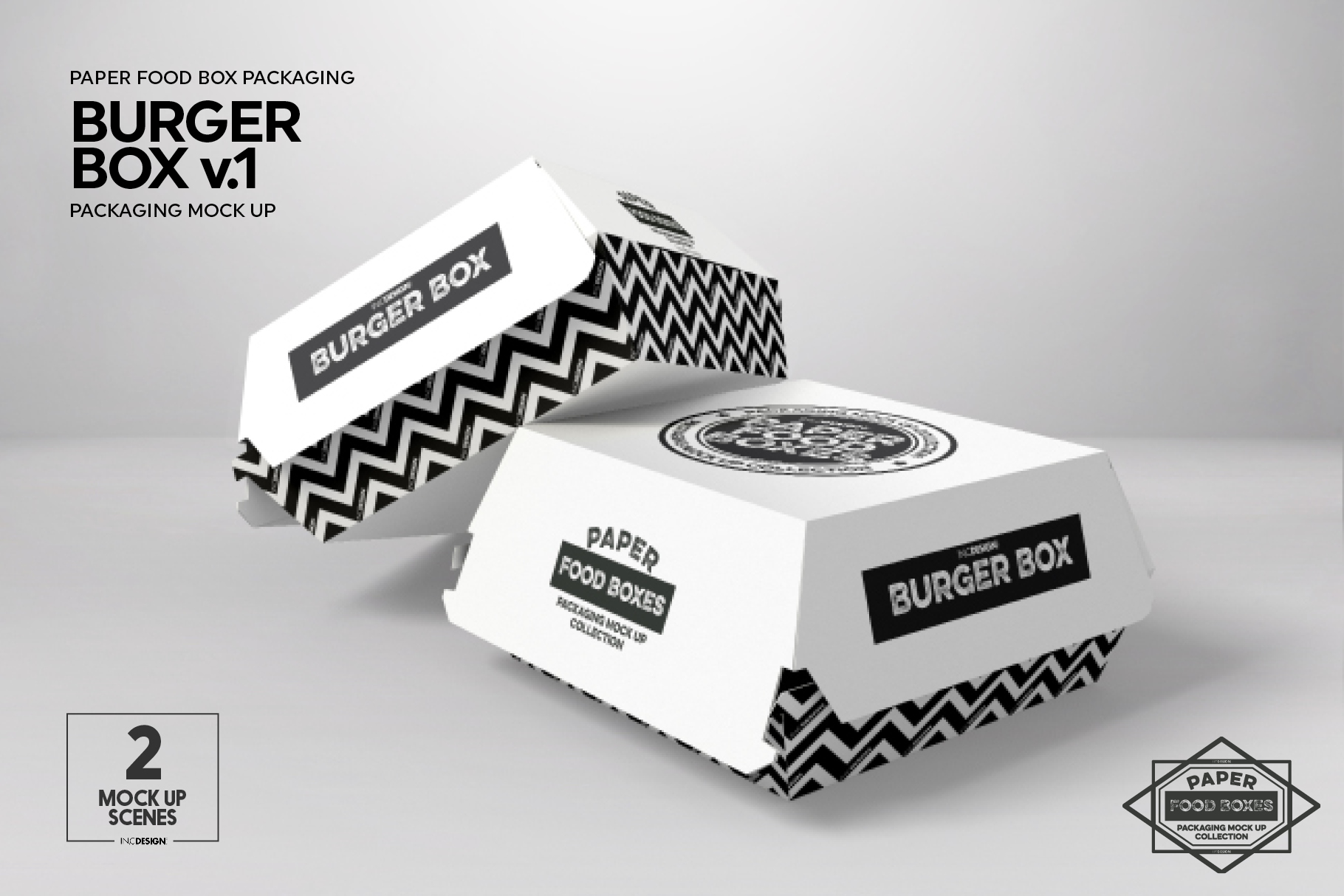 Burger Box Packaging Mock Up v1 example image 3