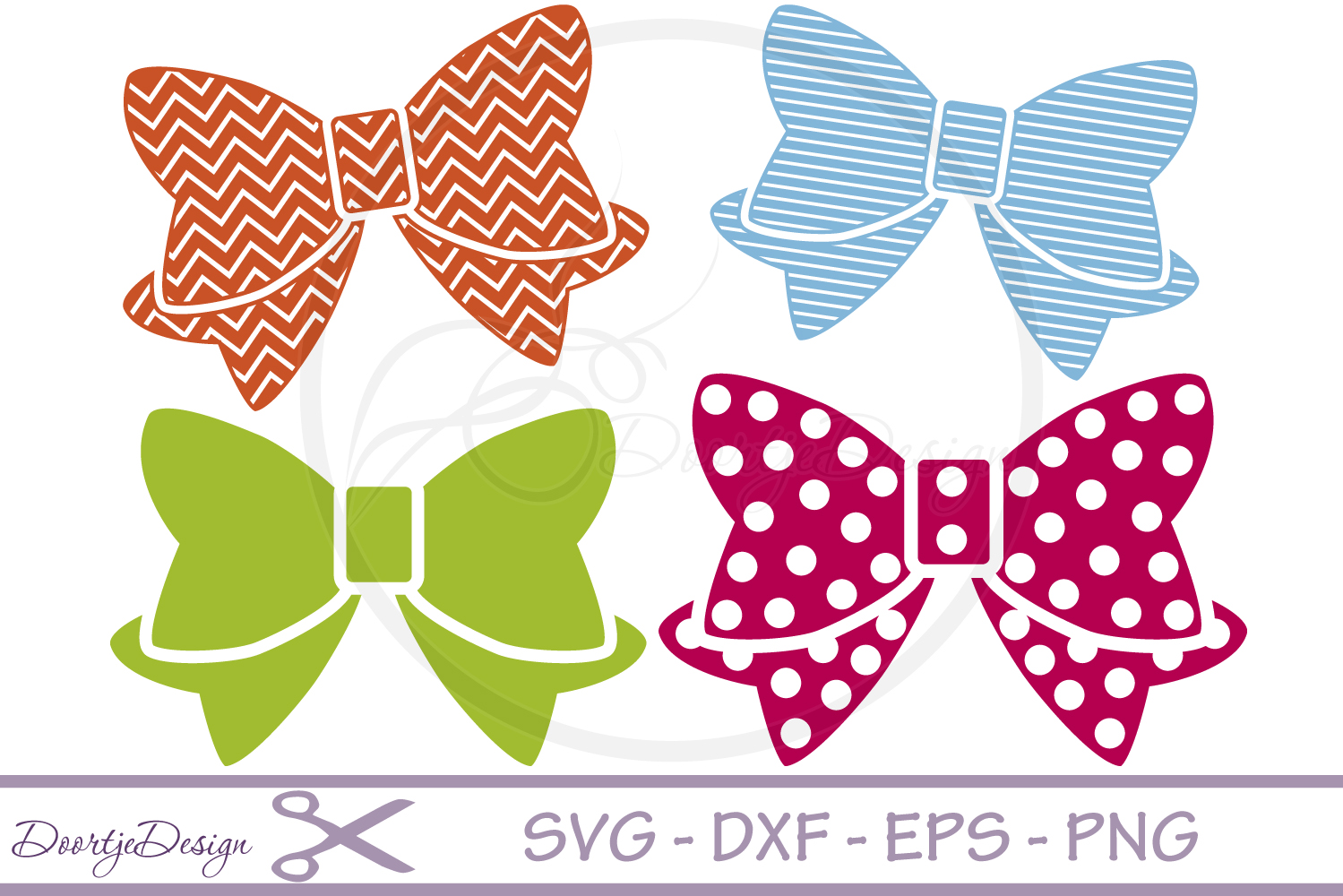 SVG files Bow 4 Cutting files example image 1