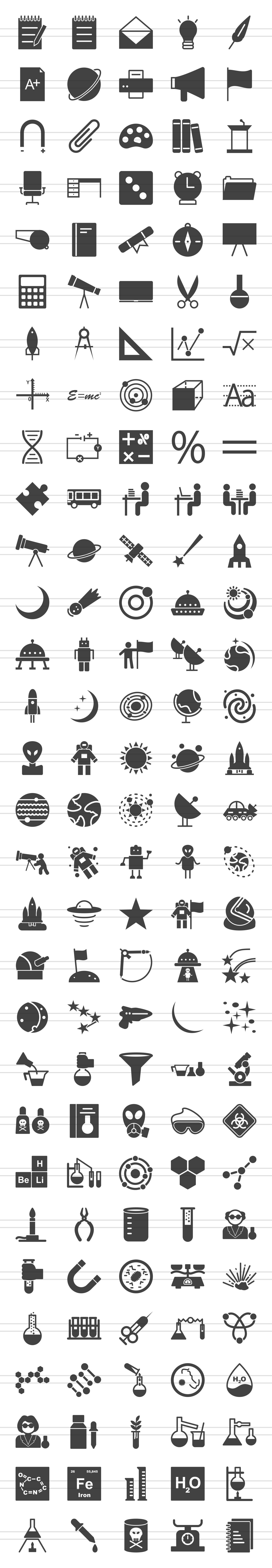 150 Science Glyph Icons example image 3