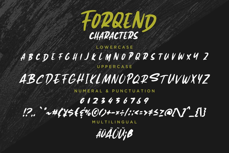 Forqend Brush Typeface example image 7