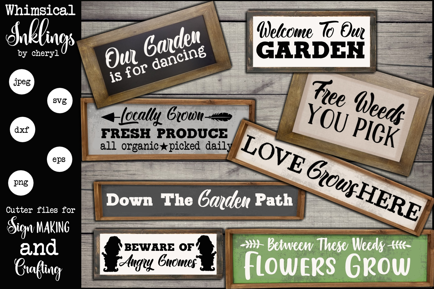 Welcome To Our Garden SVG Set example image 1