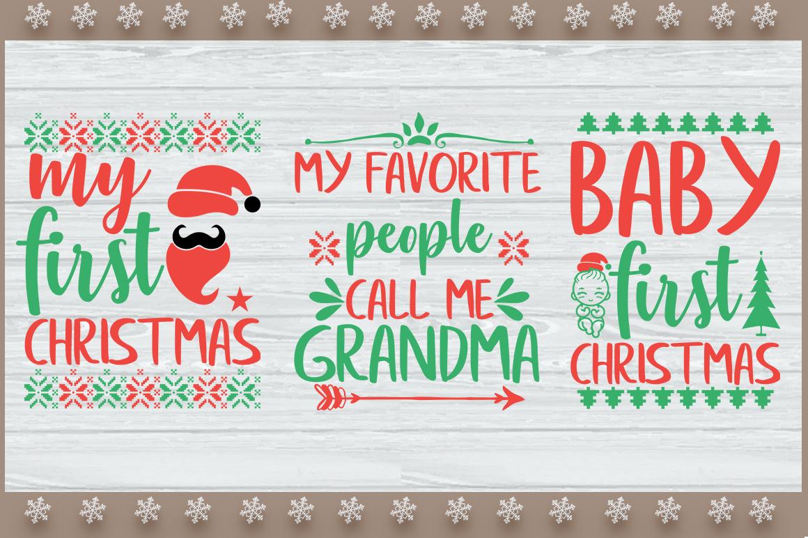 3 Christmas SVG Digital File. example image 1