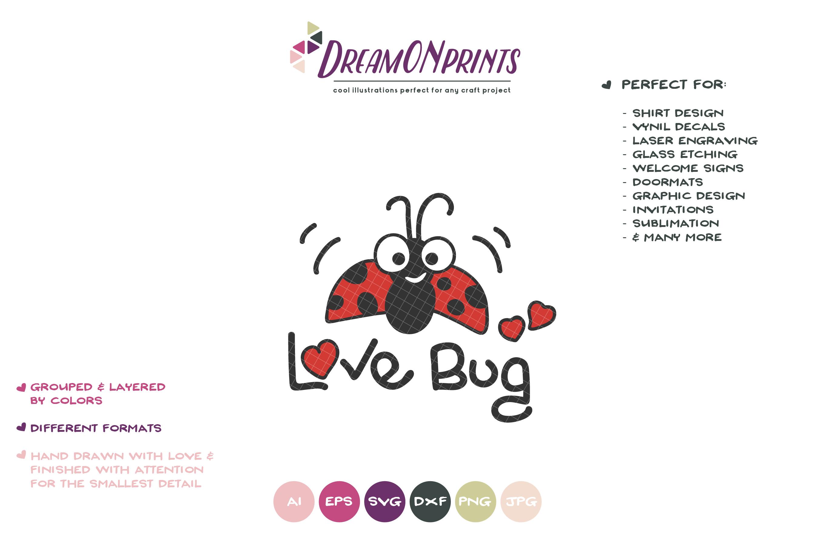 Love Bug SVG | Ladybug SVG | Children example image 2
