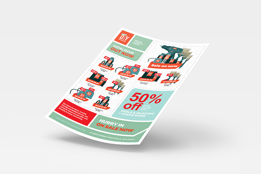 A4 DIY Tool Supply Advertisement Template example image 2