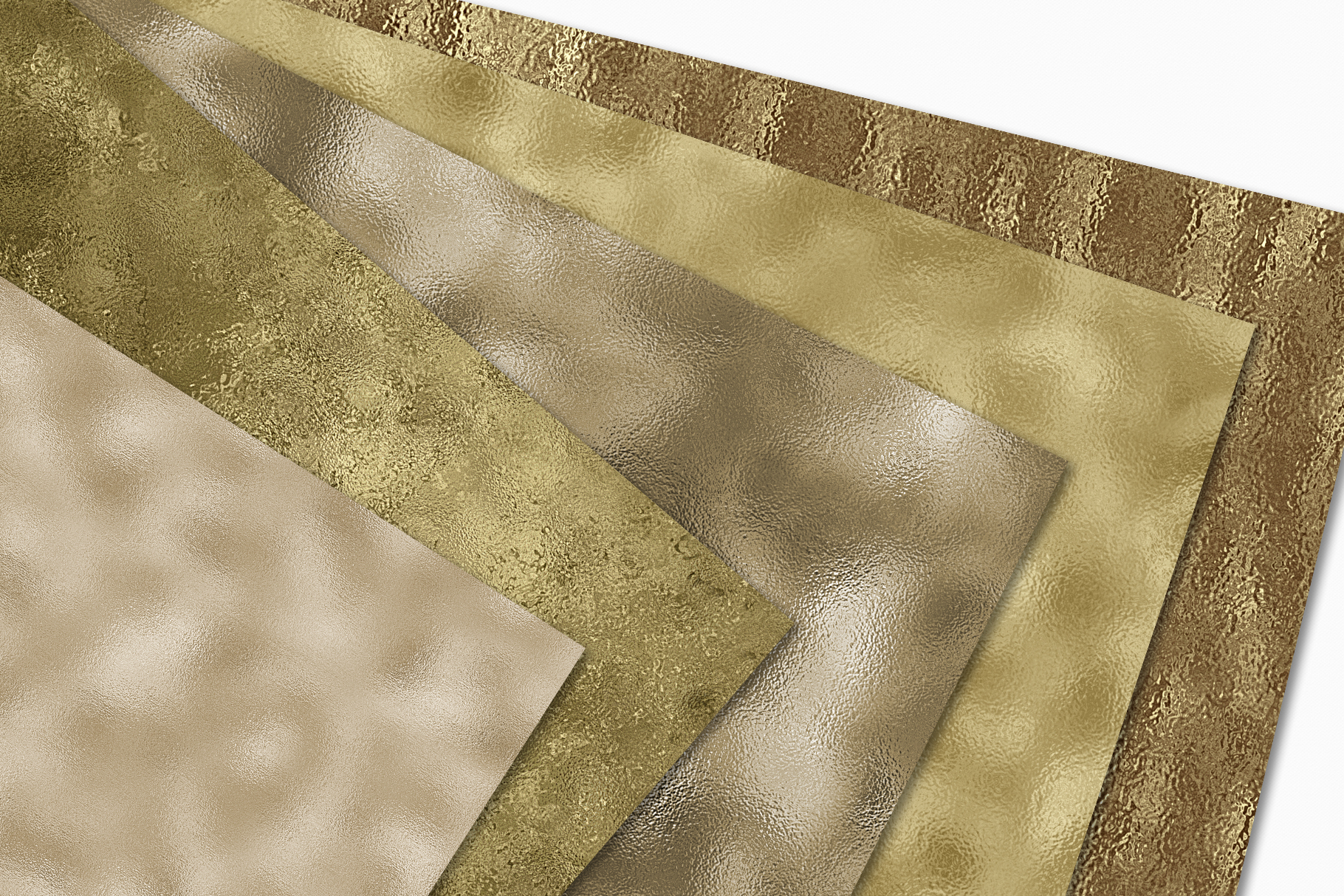 Pale Gold Foil Textures - 10 Seamless Digital Papers example image 5