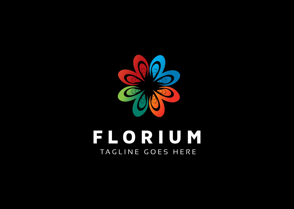 Flower Colorful Logo example image 2