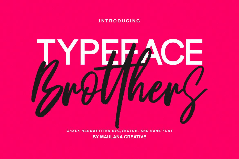 Brotthers - SVG Brush Free Sans Font example image 2