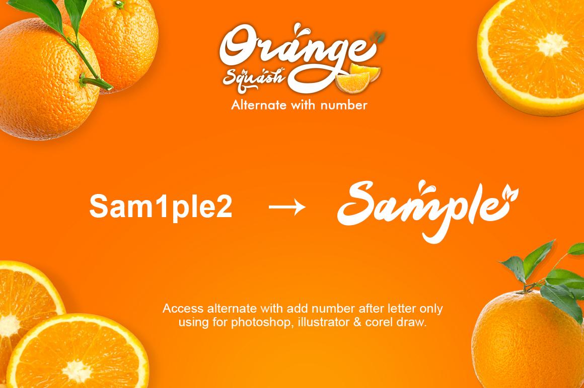 Orange Squash Script example image 3