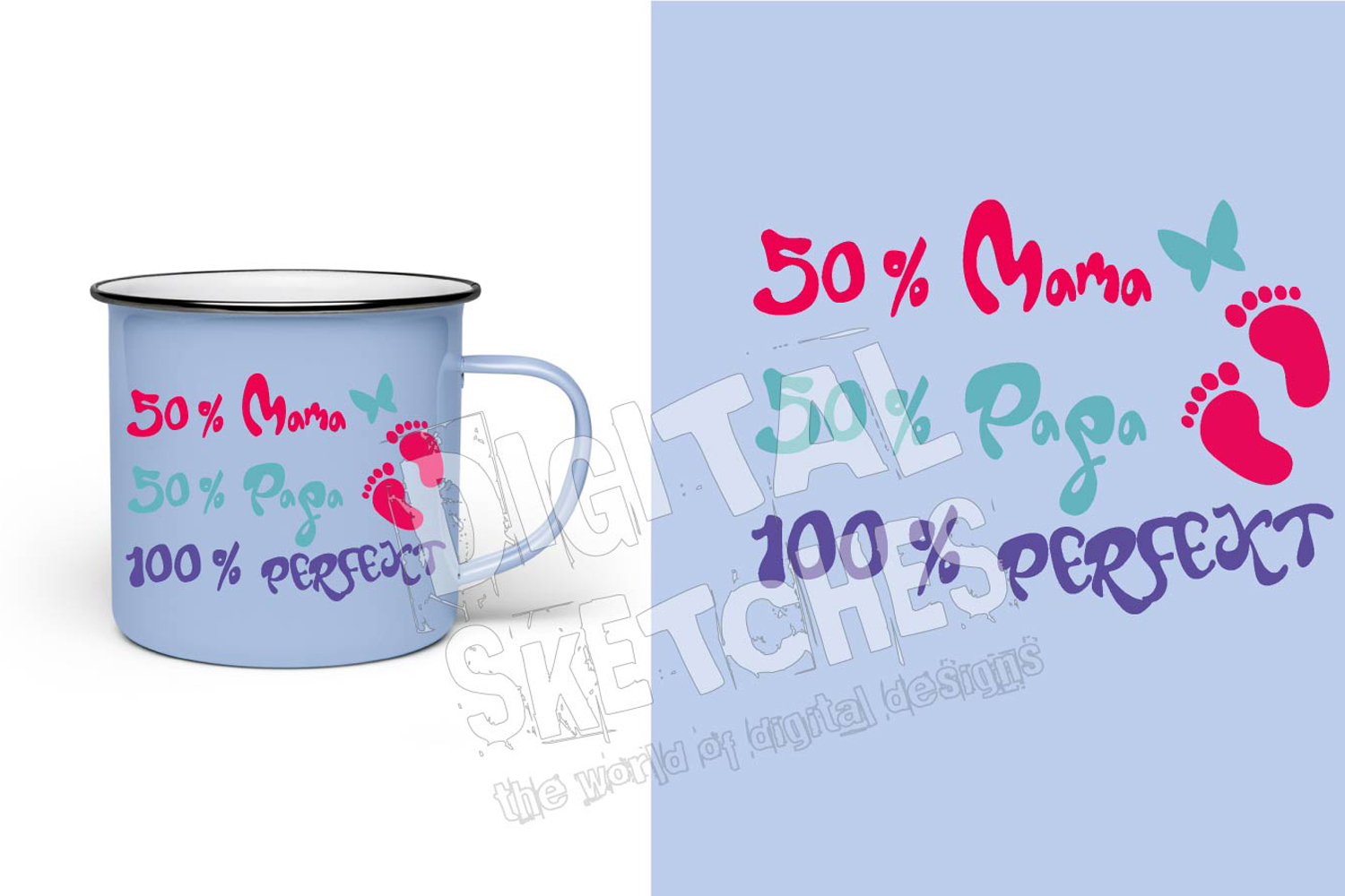 Saying Quote German Baby Feet Cut File Vector Graphics example image 2