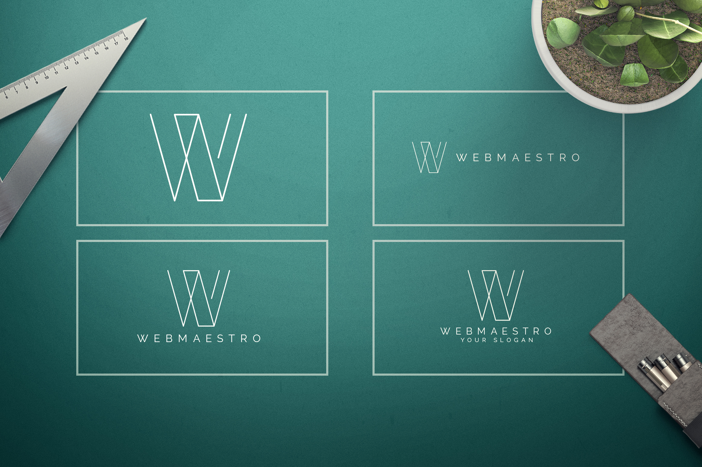 Geometric Letters and Logo Designs example image 24