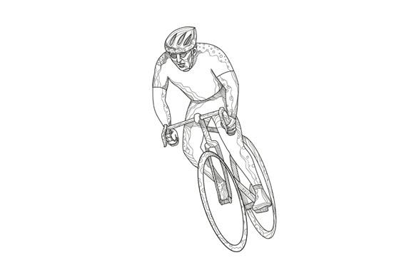 Road Bicycle Racing Doodle example image 1