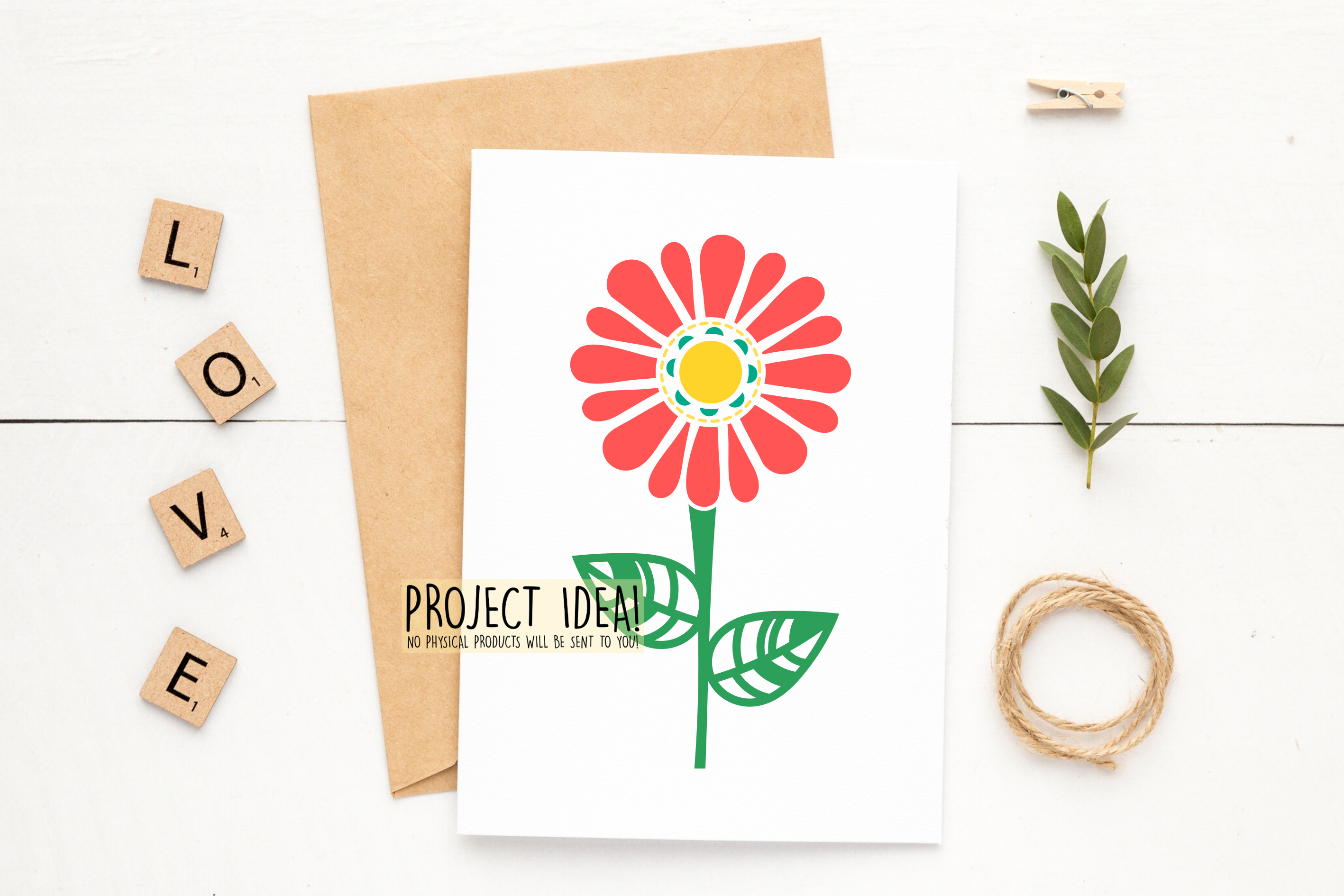 Flower SVG / DXF / EPS / PNG files example image 4