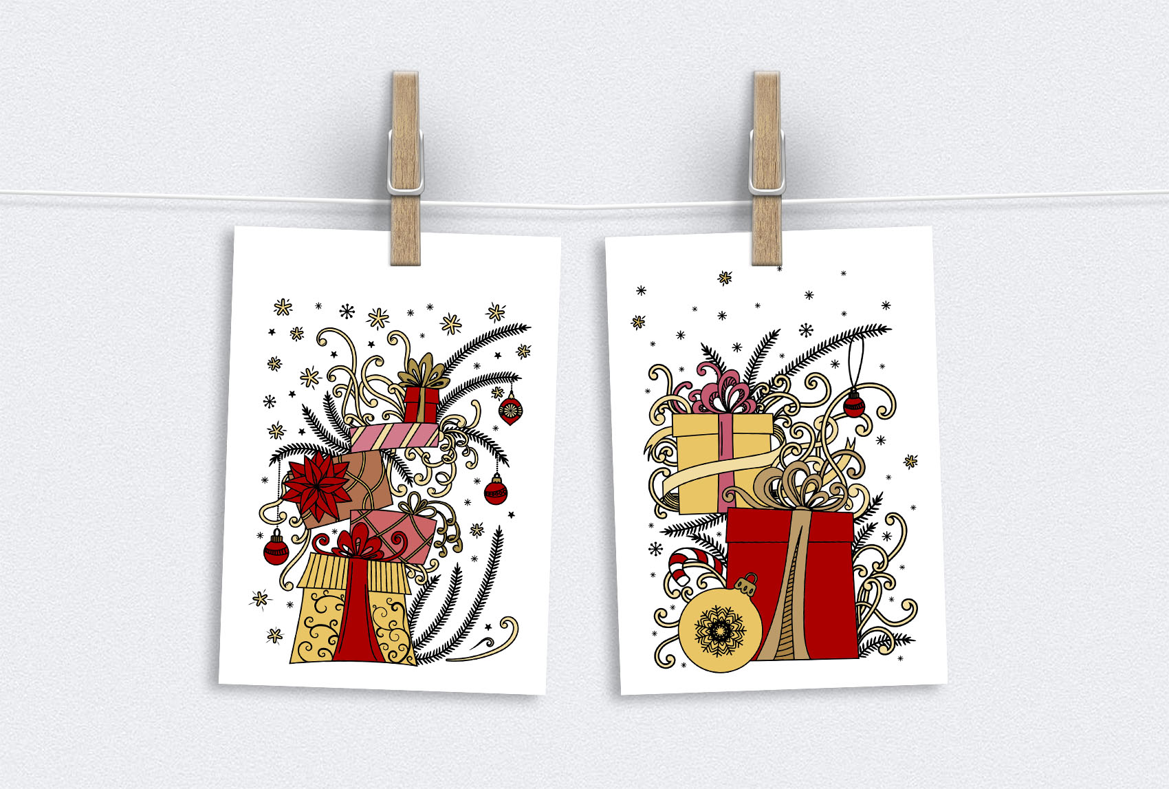 Christmas Doodles example image 8