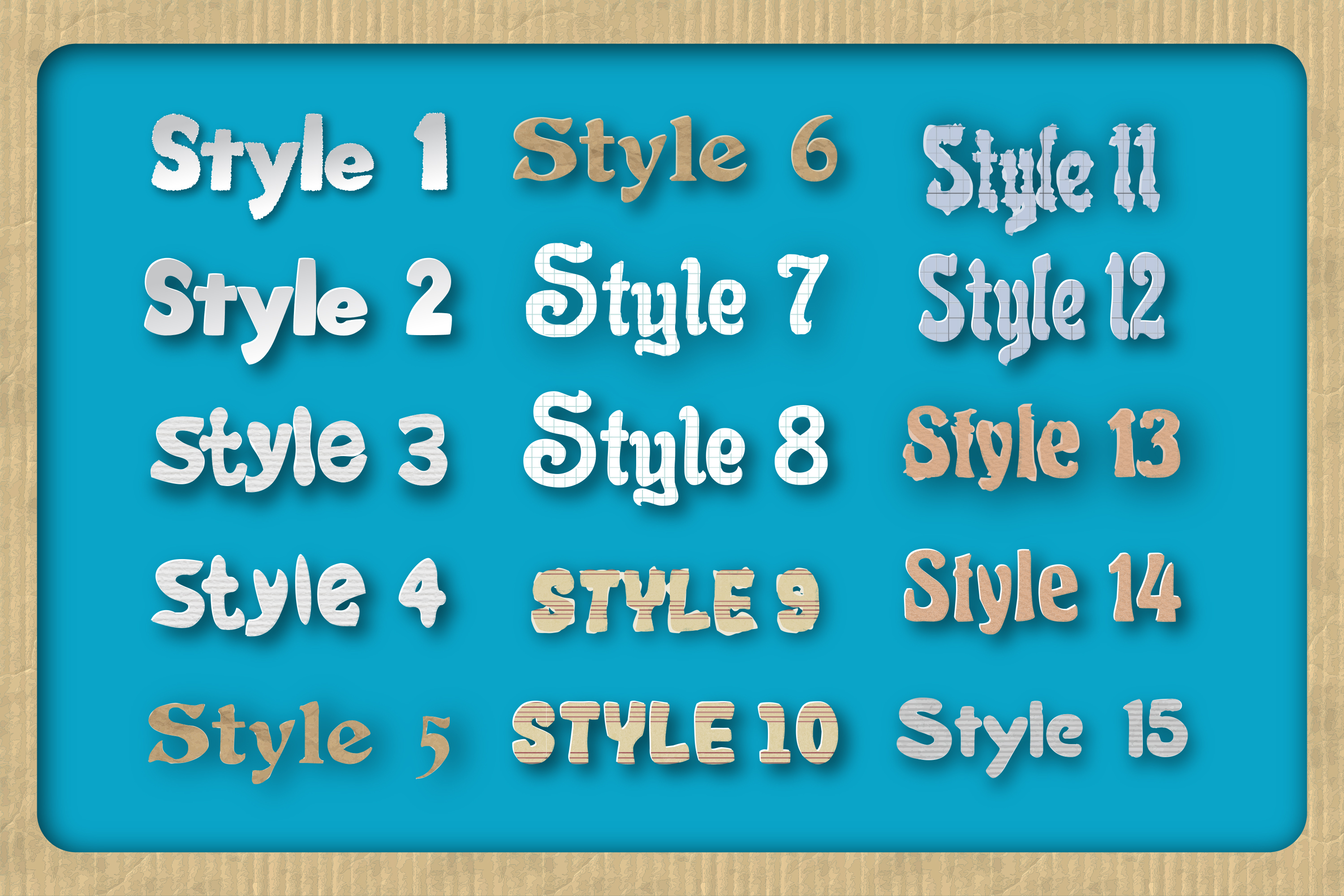 44 Paper Adobe Illustrator Graphic Styles example image 2