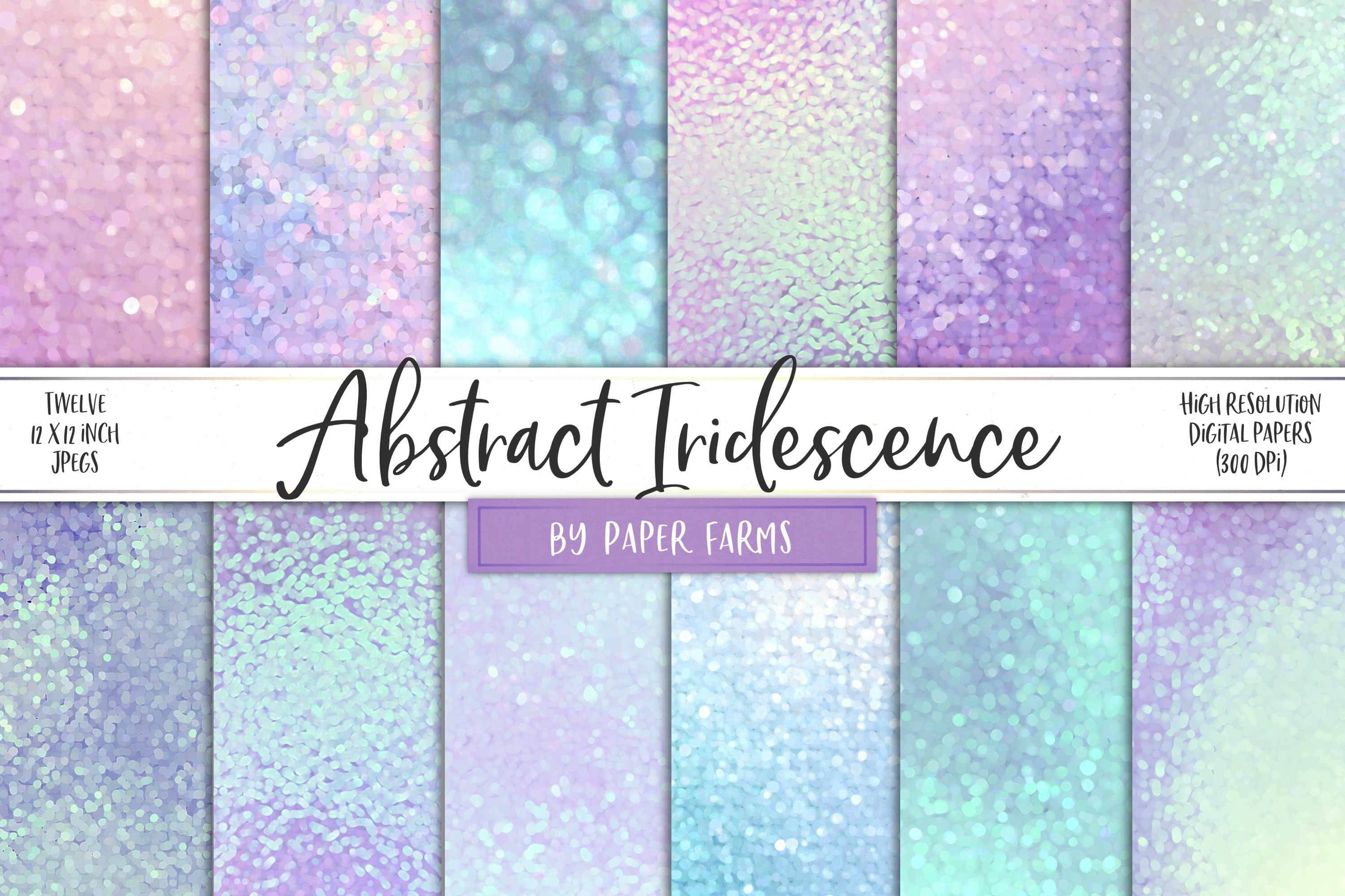 Abstract bokeh iridescent backgrounds example image 1