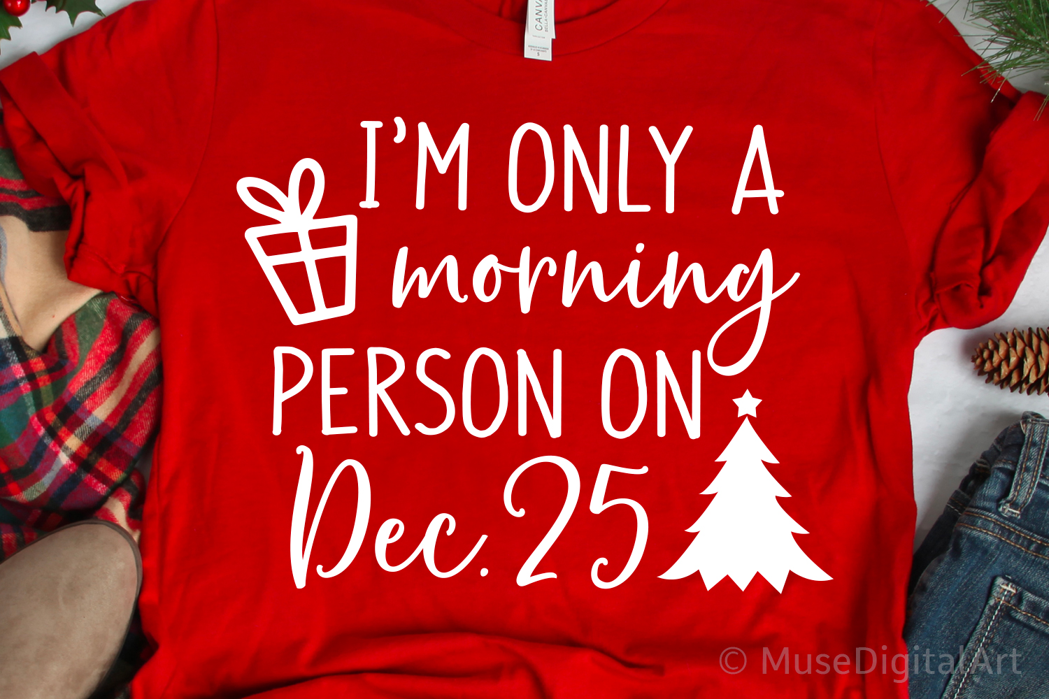 Im Only a Morning Person on December 25 Svg, Christmas Svg example image 1