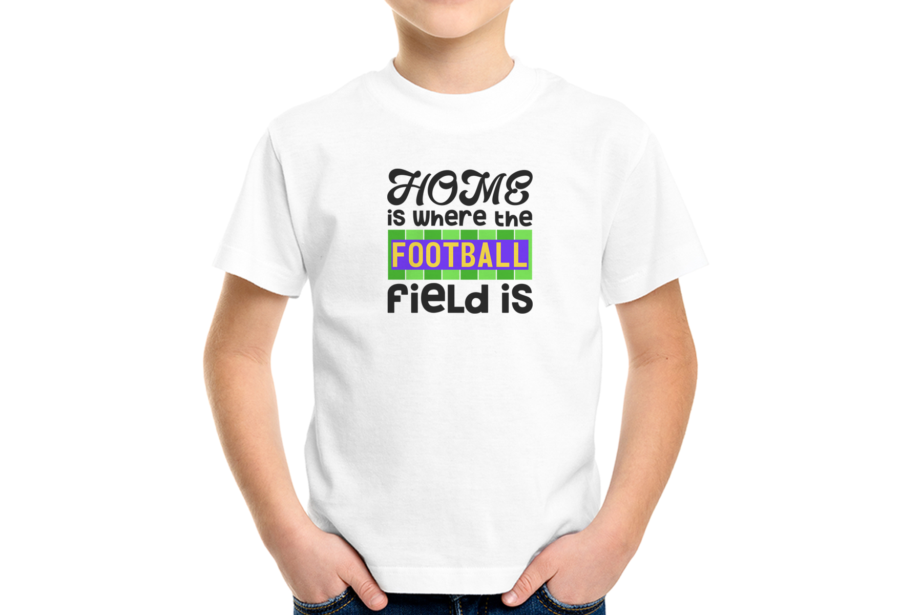 Home is where the Football Field Is, SVG, Sublimation Design example image 2