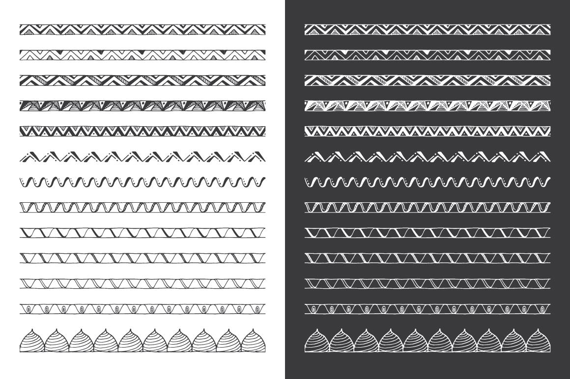 Hand Drawn Pattern Brushes Bundle - Volumes 01, 02 & 03 example image 12