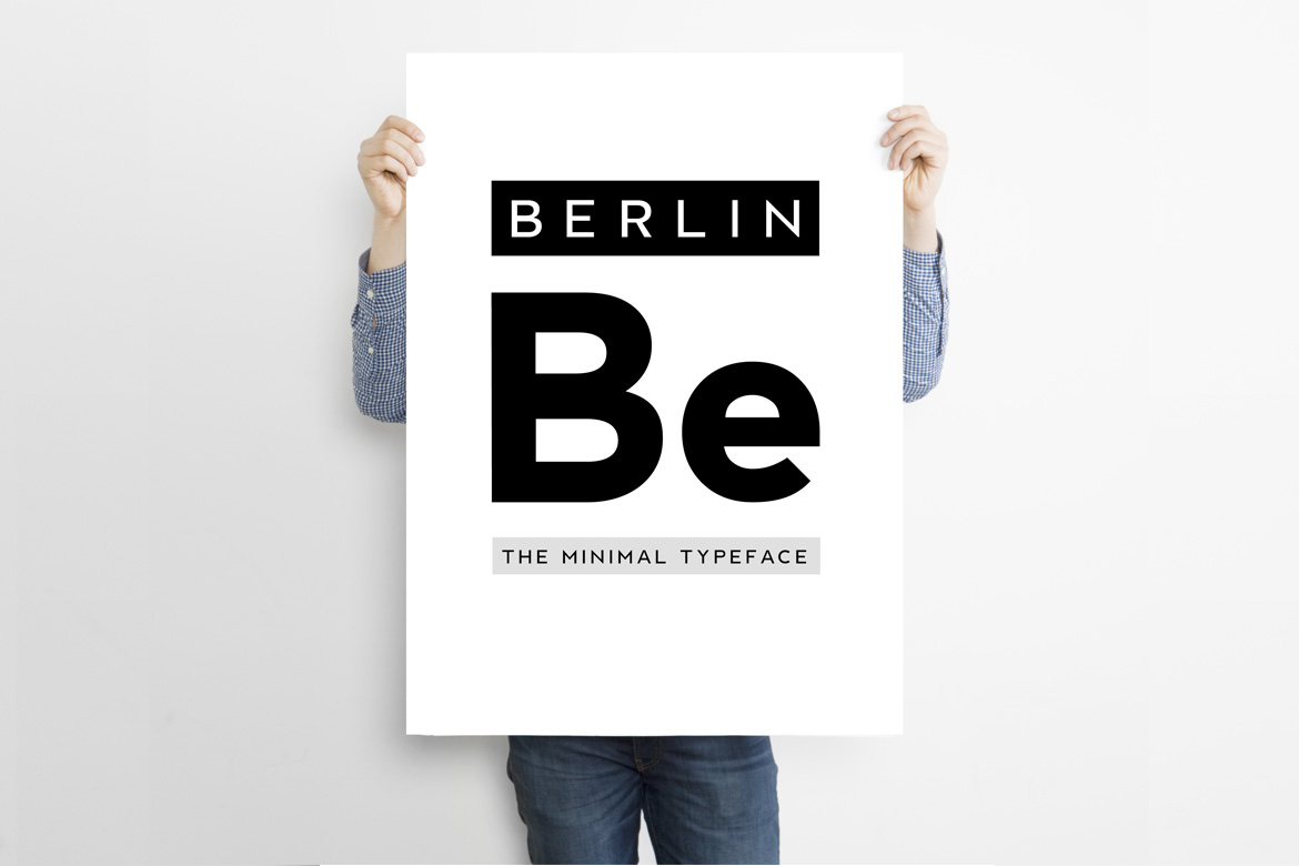 BERLIN - Minimal Typeface & Web Fonts example image 4
