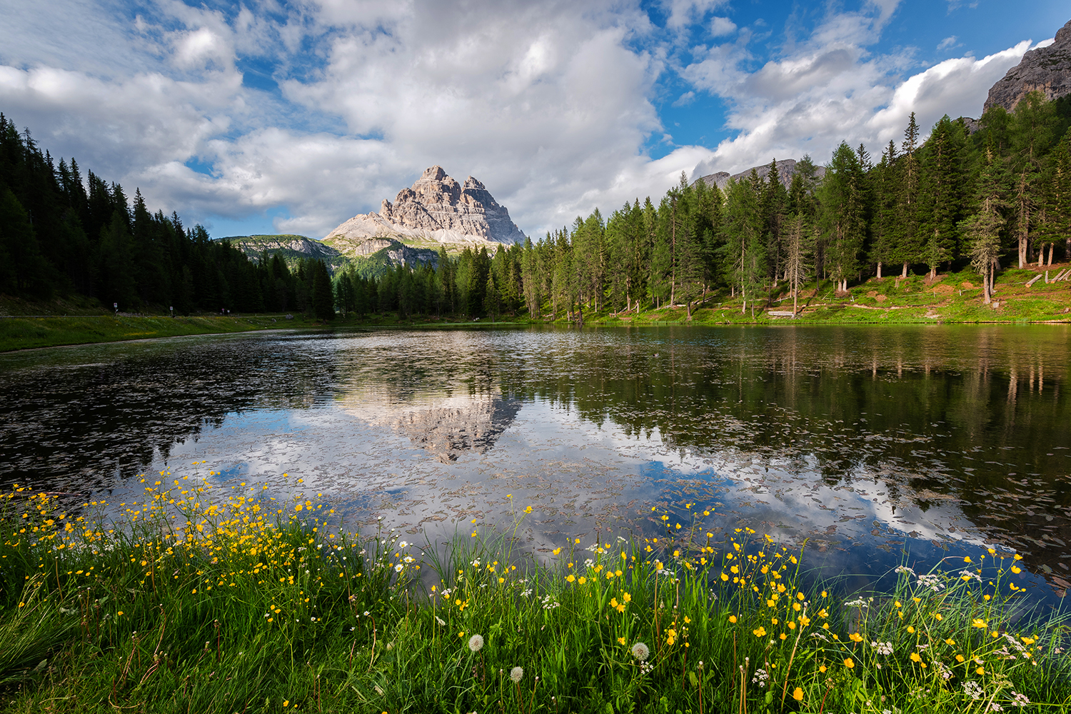 Lake Antorno in the Dolomites example image 1