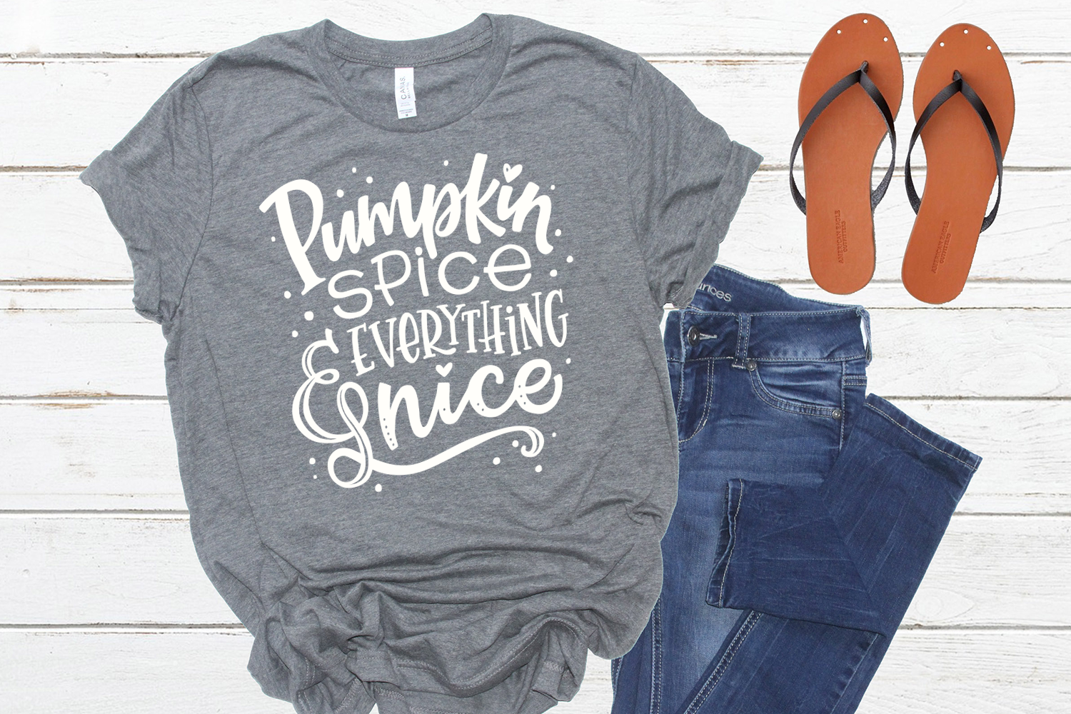 Pumpkin Spice & Everything Nice Cut File, SVG example image 3