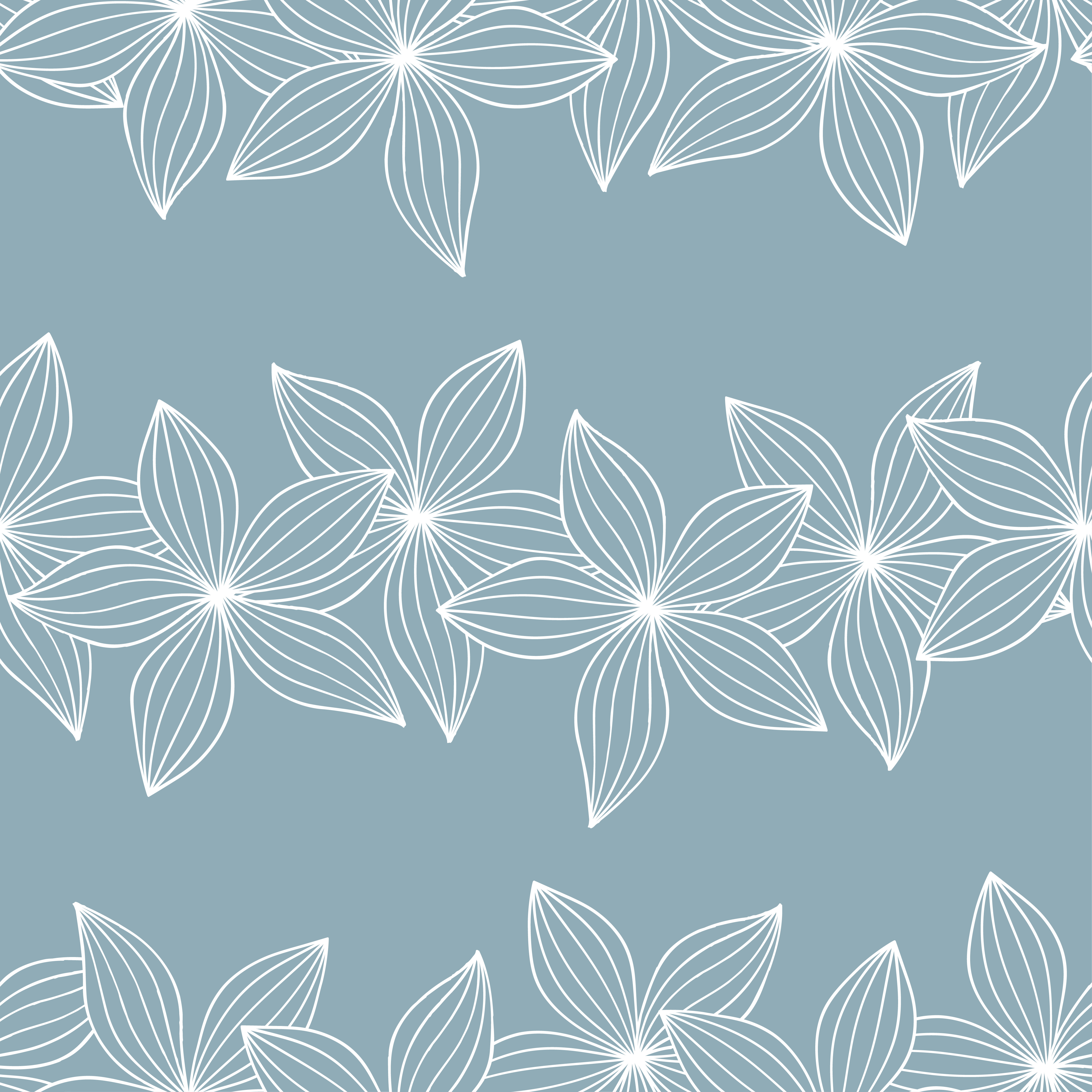Seamless floral blue pattern. Flowers background.  example image 2