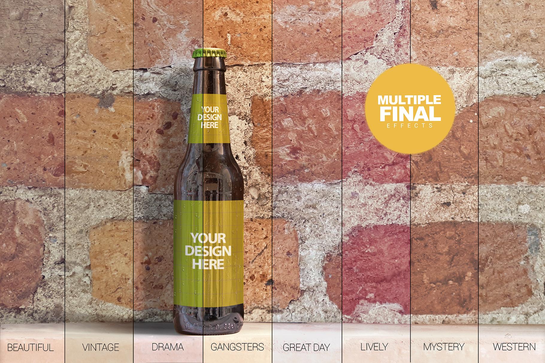 Brick Backgrounds Beer Mockup example image 7