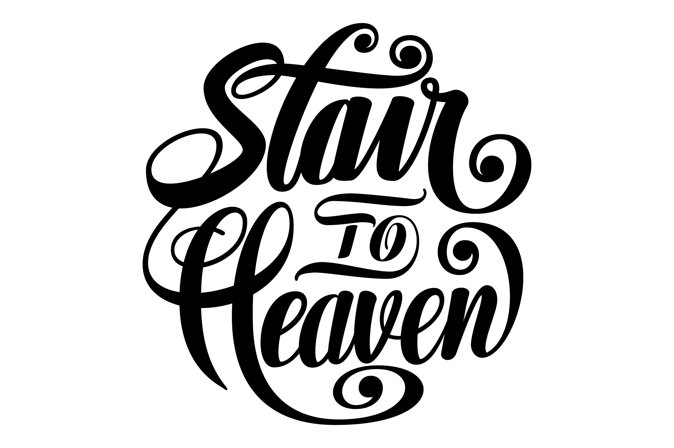 Stair to Heaven Lettering SVG example image 3