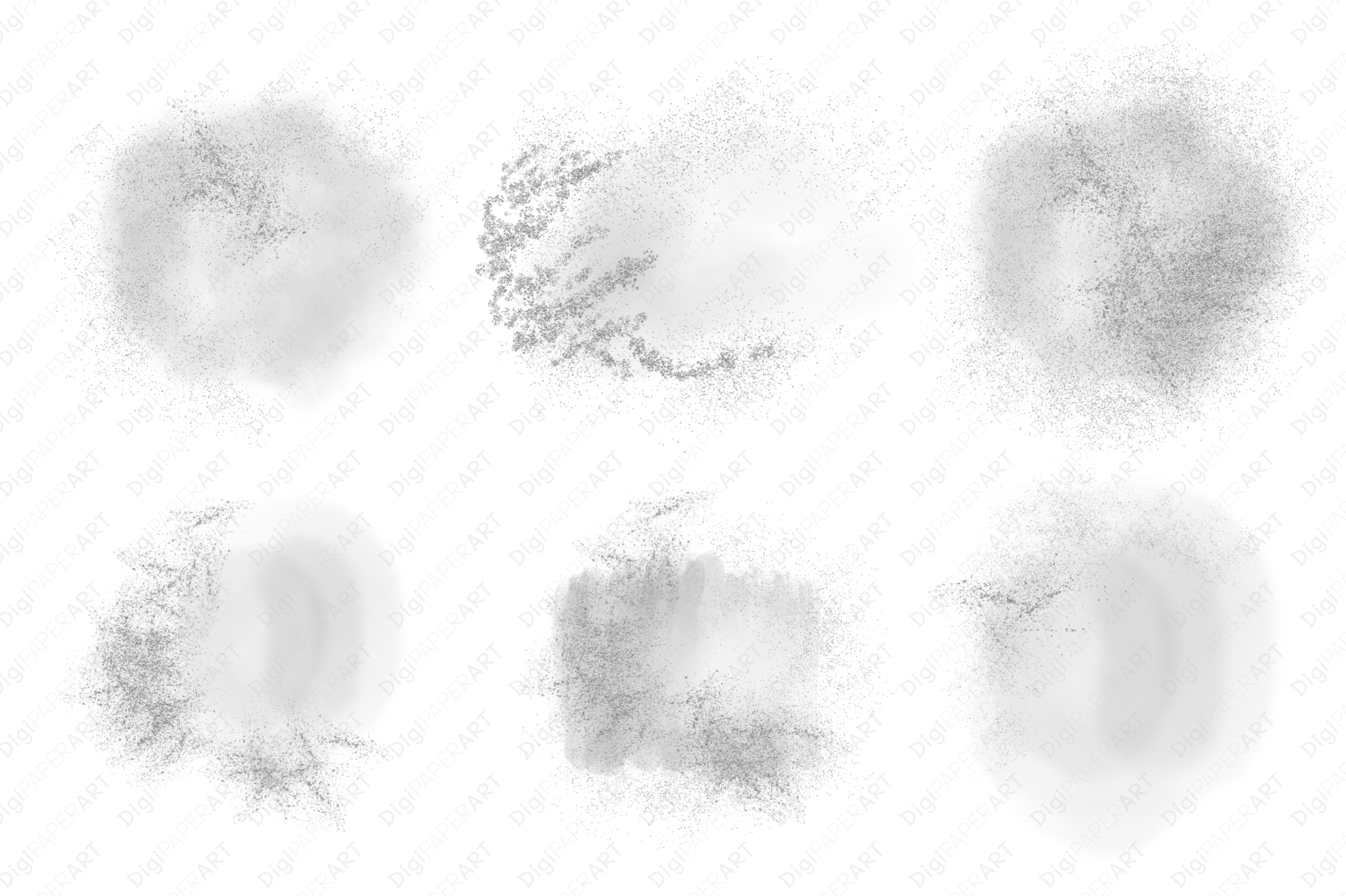 Silver Glitter and Grey Watercolor Backgrounds example image 4