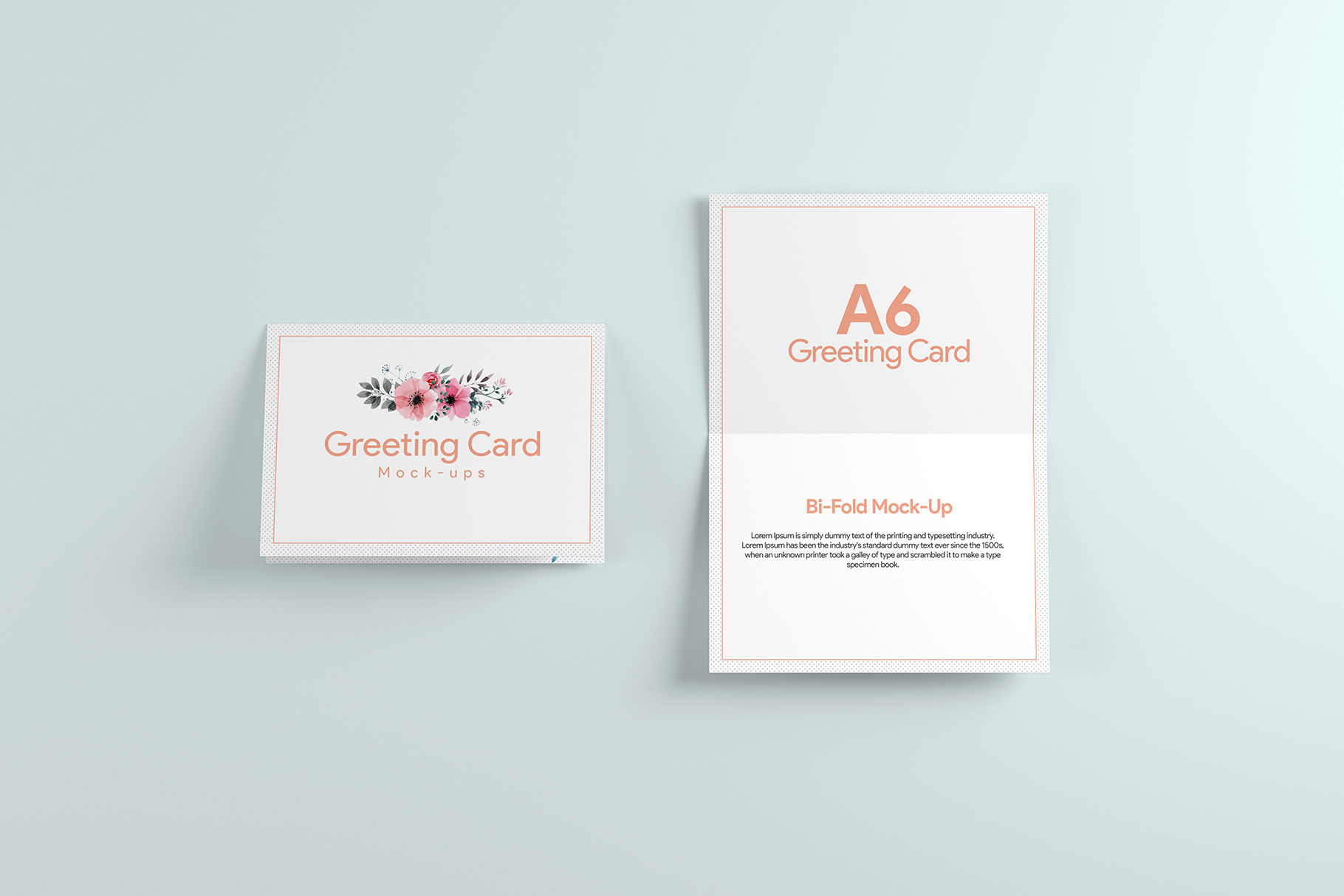 A6 Greeting Card Invitation X2 example image 3