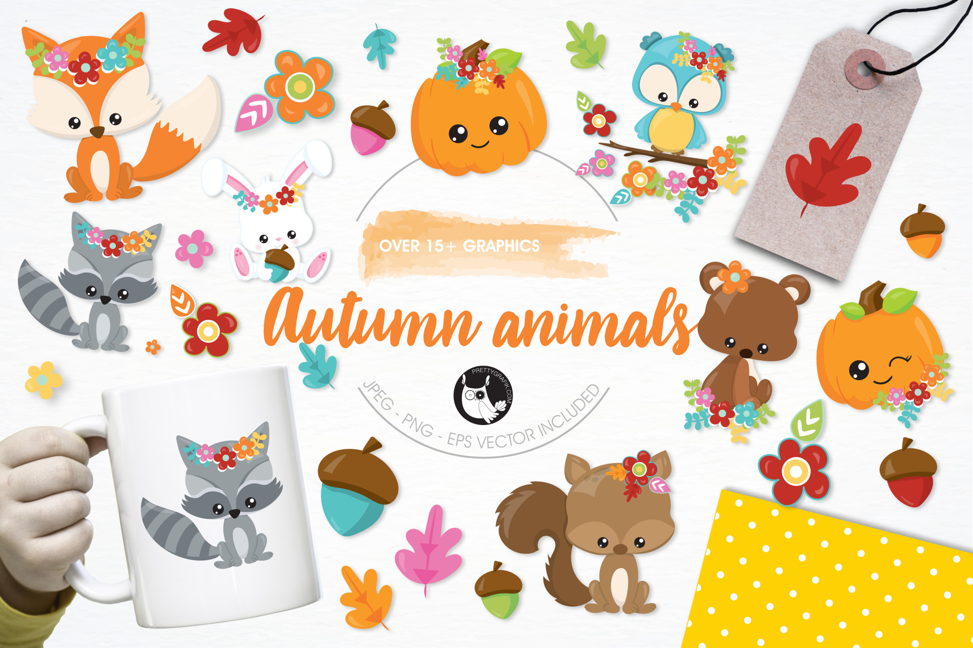 Auntumn Animals graphics and illustrations example image 1