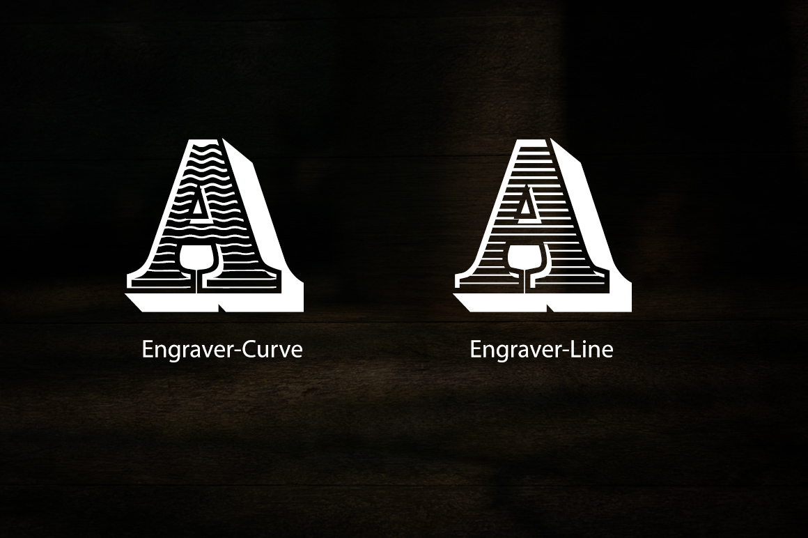 Engraver Font example image 2