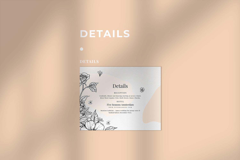 Classy Botanical Wedding Suite example image 4