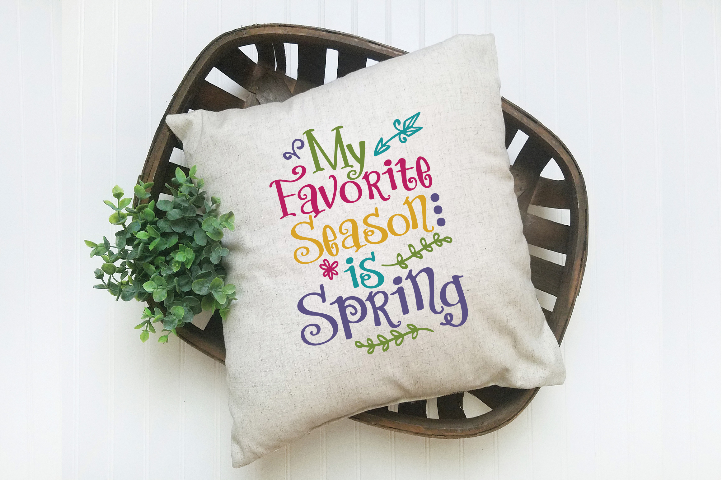 My Favorite Season is Spring SVG Cut File - Spring SVG DXF example image 5