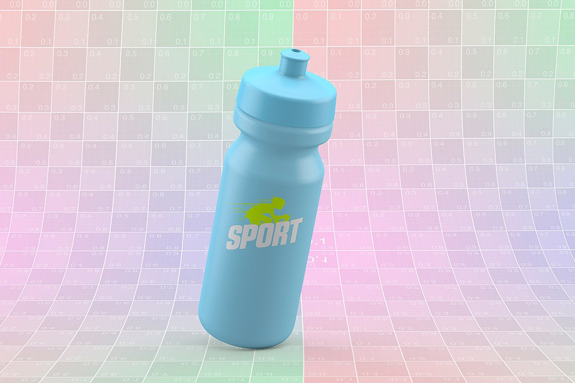 Sport Water Bottle Mock-Up example image 7