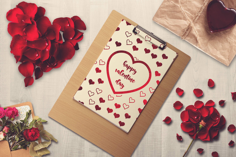 Valentine A4 Letter Mock-up #2 example image 1