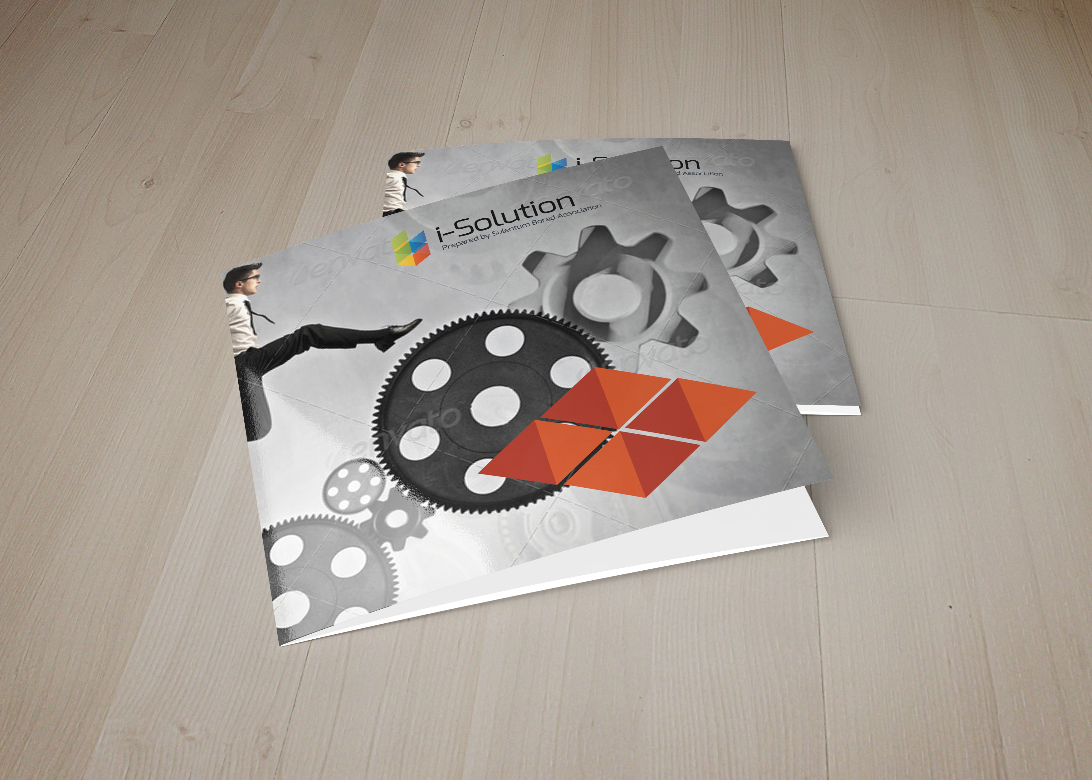 Business Strategic Square Trifold Brochure example image 1