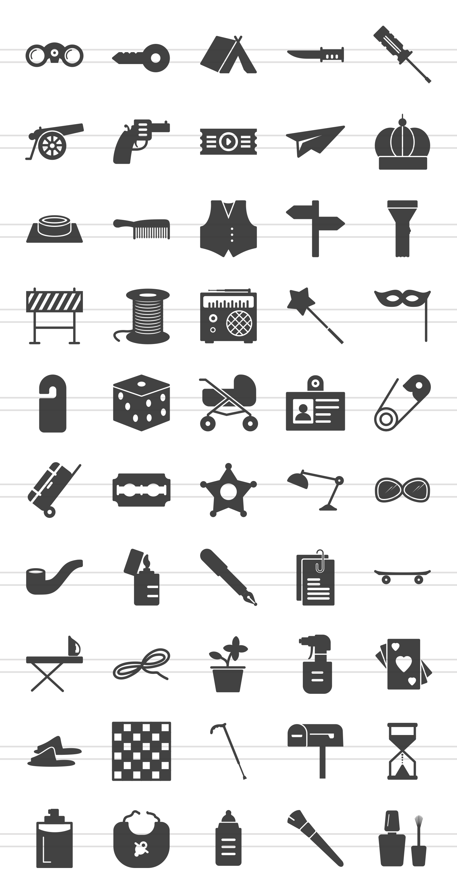 50 Objects Glyph Icons example image 2