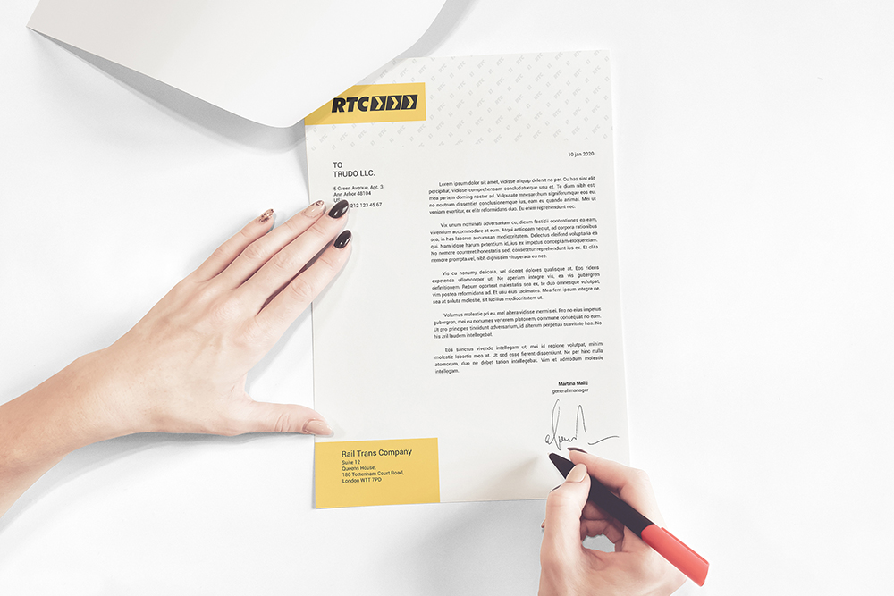 A4 Paper / Business Letter / Letterhead Mockup example image 1