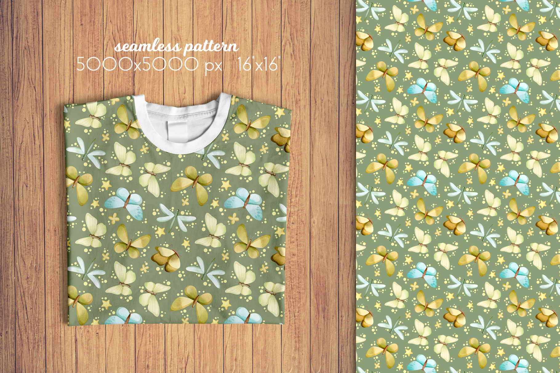 Butterflies and Dragonflies Patterns Collection example image 9