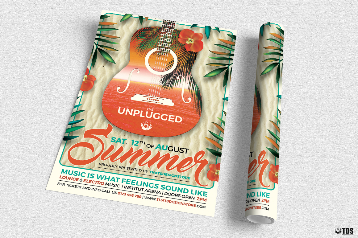 Summer Unplugged Flyer Template V2 example image 3
