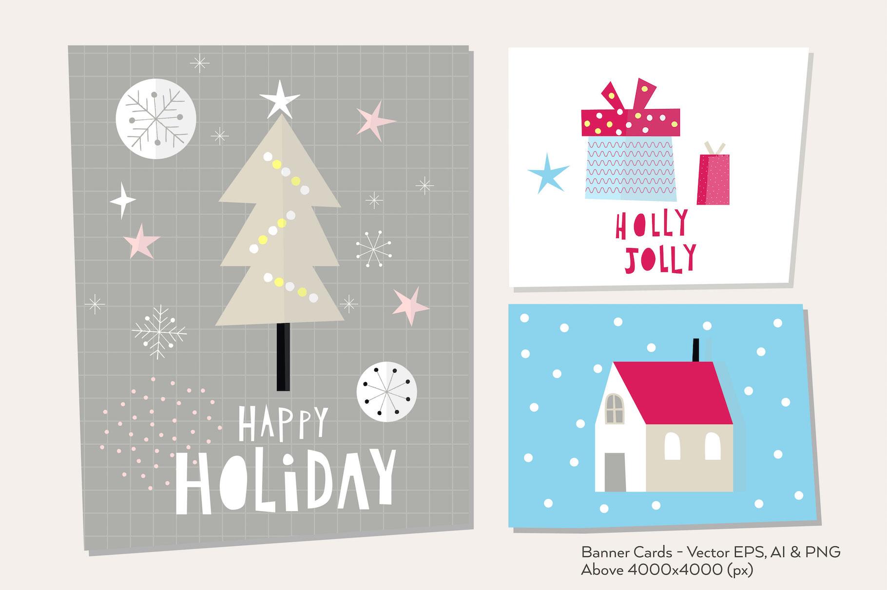 Happy Flat Holiday! Design Kit example image 6