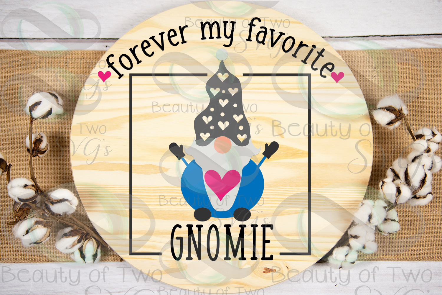 Valentines Forever my favorite gnomie svg, gnome sign svg, example image 1