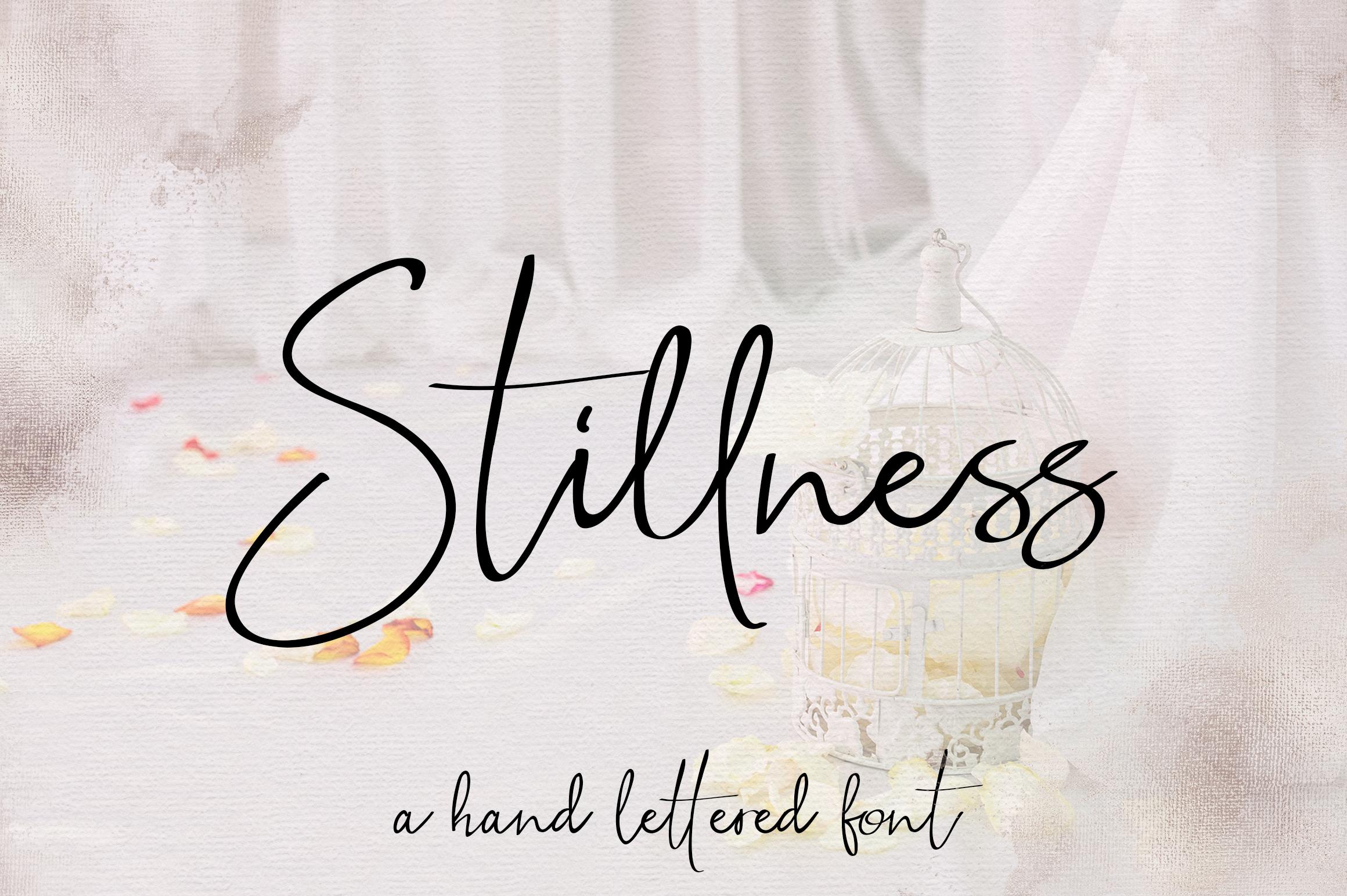 Stillness Script Font example image 1
