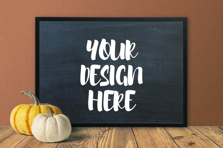 Pumpkin Blackboard Theme 50x70 Frame Mockup example image 1