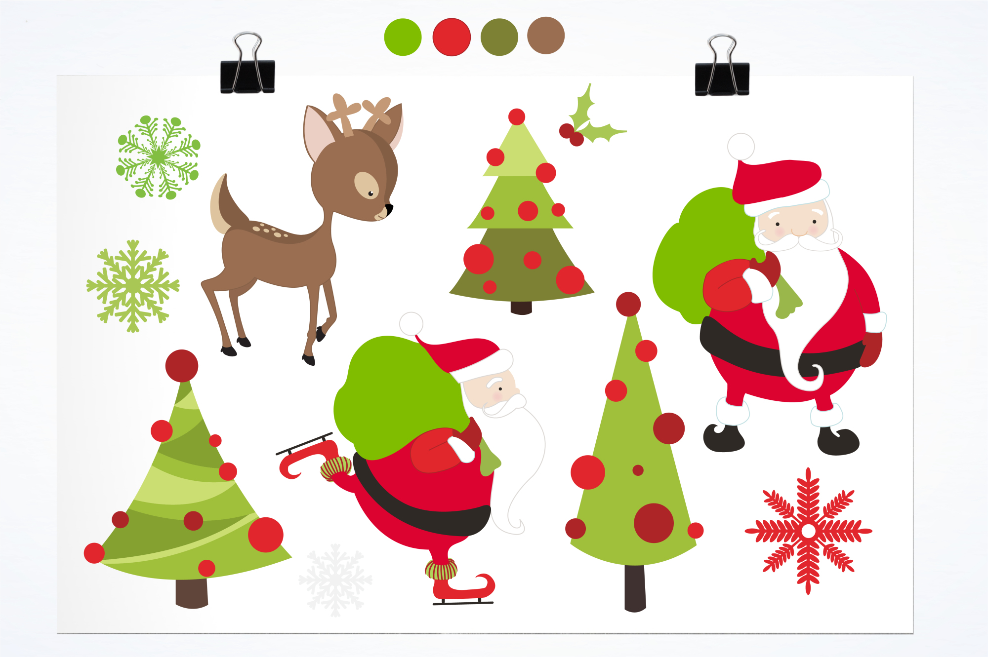 Santa Rudolf graphics and illustrations example image 2
