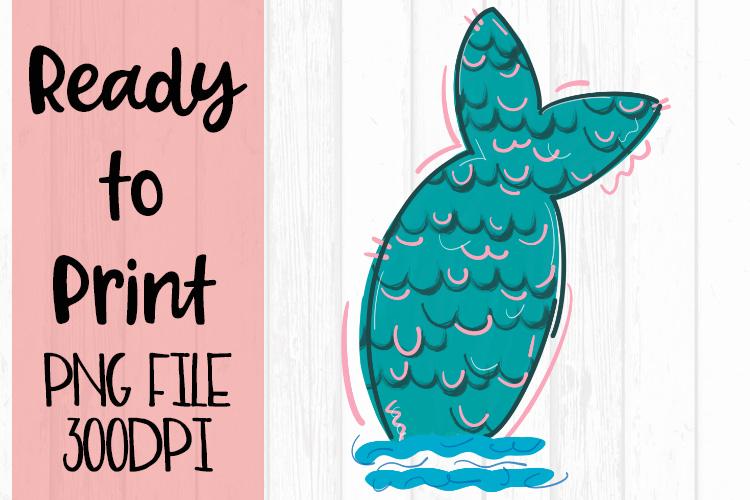 Mermaid Tail Ready to Print example image 1